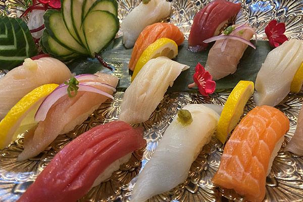 Silver Sushi Set